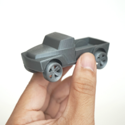 Download free 3D printer templates Pickup Truck, WallTosh