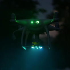 Download free 3D printer designs DJI Phantom 4 NeoPixel Mount, Adafruit