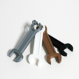 Free 3D printer files Wrench shaped earphone holder, WallTosh