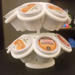 Download free STL file Spinning K-Cup Holder • Model to 3D print, ChaosCoreTech