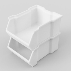 Download free STL file Stackable Box (Thicker Version) • 3D printer object, DENOVATOR