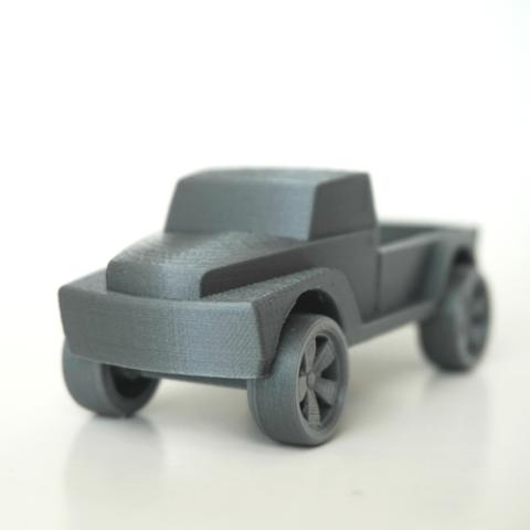 Capture d'écran 2016-10-20 à 16.47.40.png Download free STL file Pickup Truck • 3D printable template, WallTosh