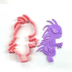 Free 3D printer designs UMA Cookie Cutter (Chupacabra), Yuko