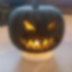 Download free 3D printer designs Halloween Jack-o-Lantern, ChaosCoreTech