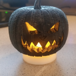 Download free 3D printer designs Halloween Jack-o-Lantern, ChaosCoreTech