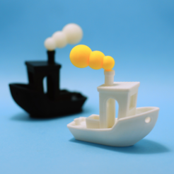 Free 3d printer designs Smoke for #3DBenchy boat, akira3dp0