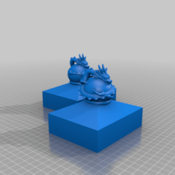 Fence_Post_Cap_Draon_l_and_r.png Download free STL file Fence cap with dragon. • 3D print template, Macflame