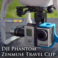 Download free 3D printing models ZenClip - DJI Phantom 1/2, questpact