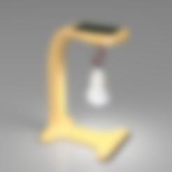lampe- virgil roussos 2.stl Download free STL file Solar Lamp from Faîtes des Lumières Challenge - Virgil Roussos • 3D printer design, F3DF