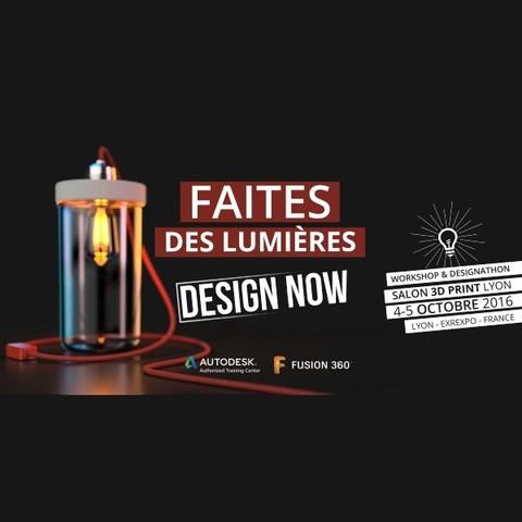 3DPrintLyon.jpg Download free STL file Solar Lamp from Faîtes des Lumières Challenge - Virgil Roussos • 3D printer design, F3DF
