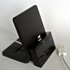 Free STL file iPhone stand, WallTosh