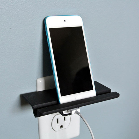 Free 3D printer designs Wall Outlet Shelf, WallTosh