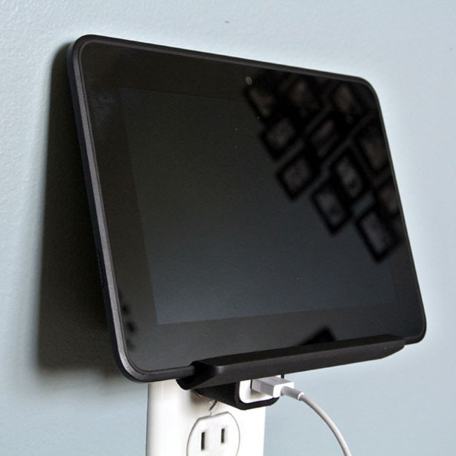 i5.jpg Download free STL file Wall Outlet Shelf • Object to 3D print, WallTosh