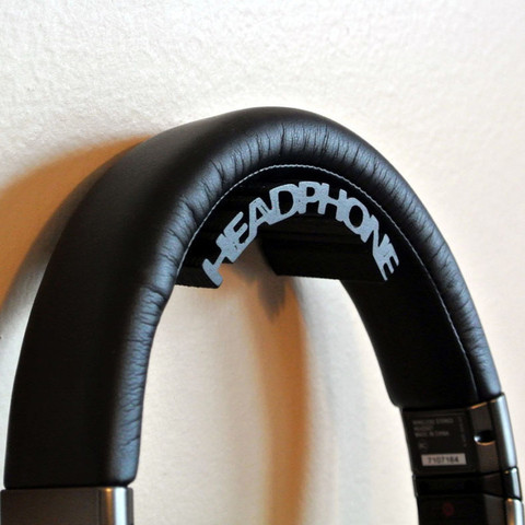 Free 3d printer model Headphone holder, WallTosh