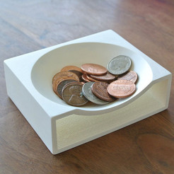 Download free STL Coin Tray, WallTosh