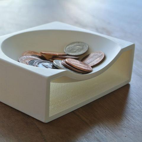 4.jpg Download free STL file Coin Tray • 3D printer model, WallTosh