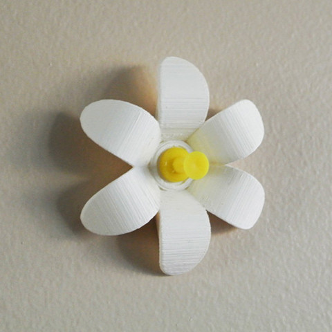 3.jpg Download free STL file Flower-shaped Push pin #1 • 3D print model, WallTosh