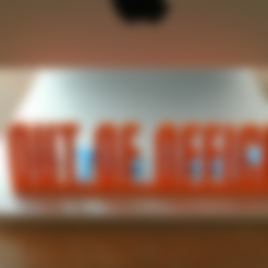 out_of_office.stl Download free STL file  Desk Sign • 3D printer object, WallTosh