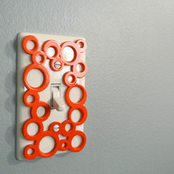 Free STL files Decorative switch-plate, WallTosh