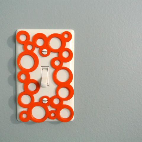 deco1.jpg Download free STL file Decorative switch-plate • Object to 3D print, WallTosh
