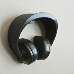 headphone_holder03.jpg Download STL file Headphone Holder #2 • 3D printable model, WallTosh