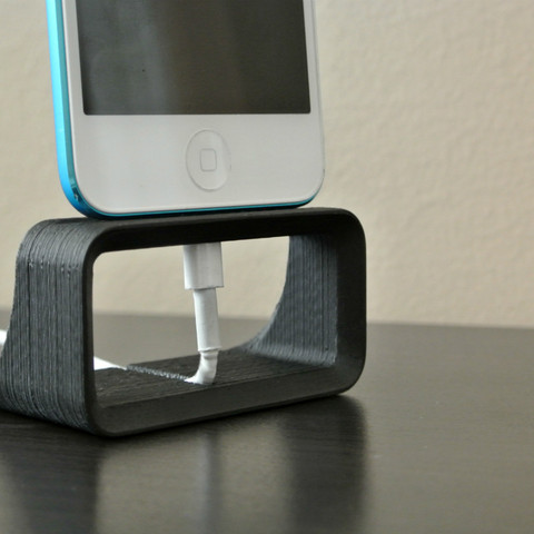 iphone_stand01.jpg Download STL file iPhone Dock Stand • 3D printer design, WallTosh