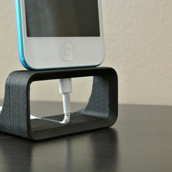 iPhone Dock Stand 3D model, WallTosh