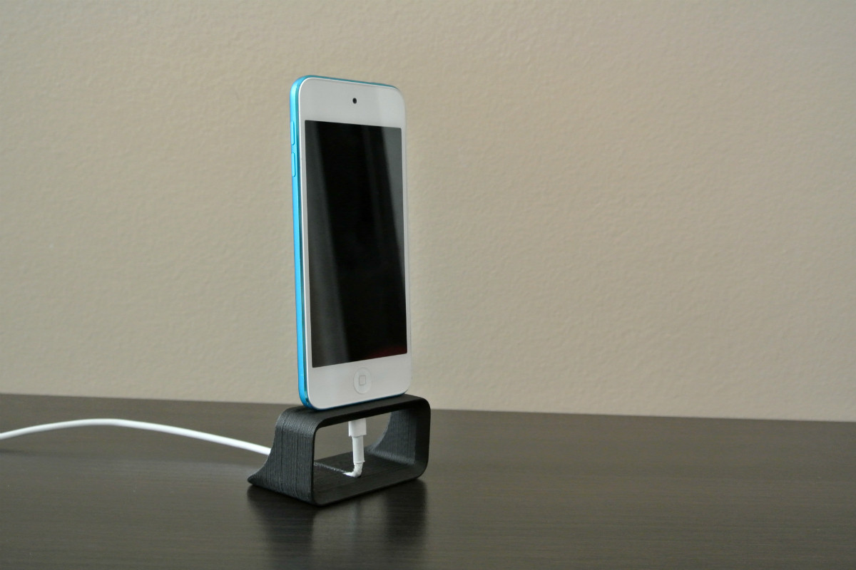 iphone_stand00.jpg Download STL file iPhone Dock Stand • 3D printer design, WallTosh