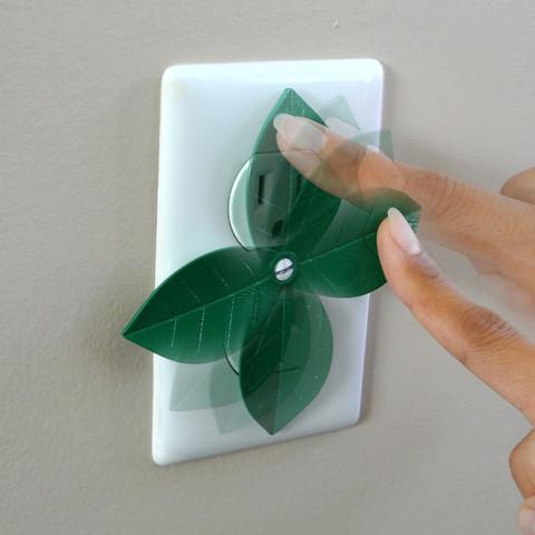 stl Leaf shaped outlet cover, WallTosh