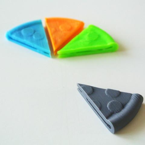 pizza01.jpg Download free STL file Pizza shaped Money Clip • 3D printable model, WallTosh