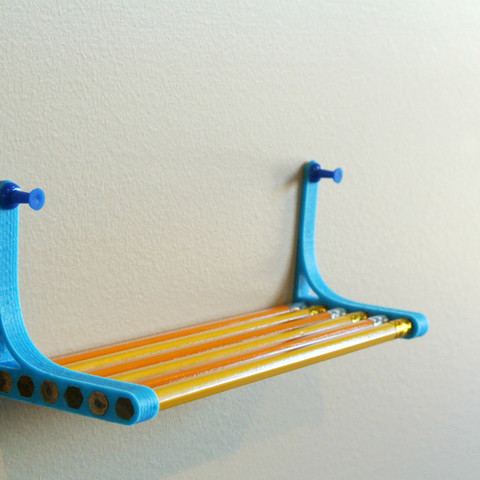 Download free 3D printing designs Pencil Shelf, WallTosh