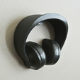 3d printer designs Headphone Holder #2, WallTosh