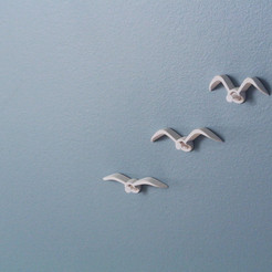 Download free STL Seagull push-pin, WallTosh