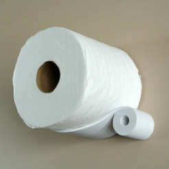 toilet_paper_holder0.jpg Download STL file Spare roll holder • 3D print template, WallTosh