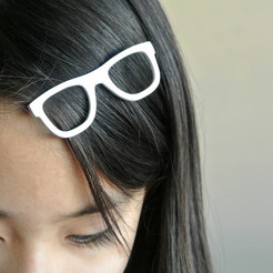 3D printing model Glasses shaped hair clip, WallTosh