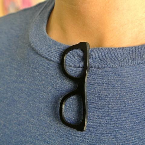 glasses00.jpg Télécharger fichier STL Pince à cheveux en forme de lunettes • Modèle à imprimer en 3D, WallTosh