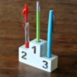 Download free 3D model Winner's podium for pens, WallTosh