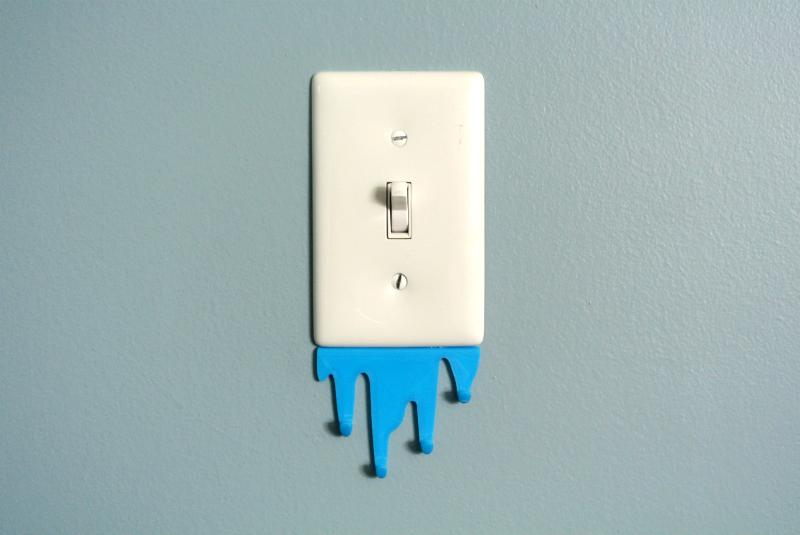 L_S00.png Télécharger fichier STL gratuit Liquid spill shaped hook • Modèle imprimable en 3D, WallTosh