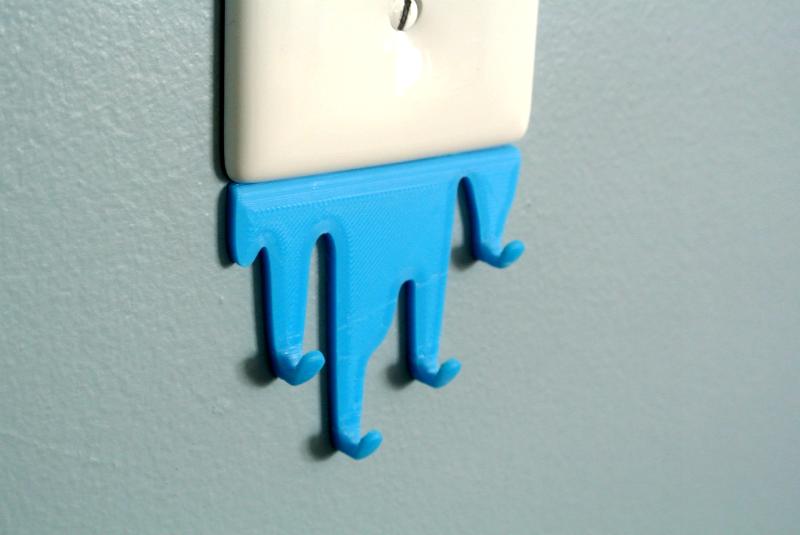 L_S03.png Download free STL file Liquid spill shaped hook • 3D printing model, WallTosh