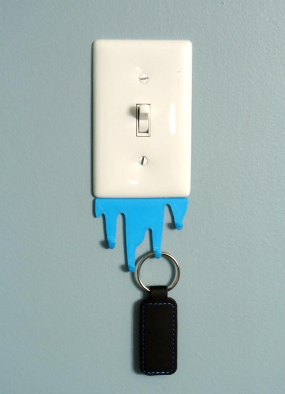 L_S02.png Télécharger fichier STL gratuit Liquid spill shaped hook • Modèle imprimable en 3D, WallTosh