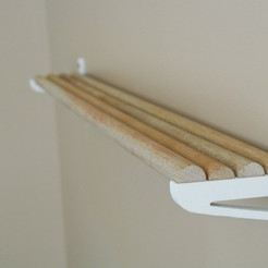 3d model DIY wall shelf, WallTosh