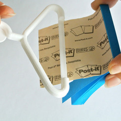 Download free 3D printer files Sticky Note Hanger, WallTosh
