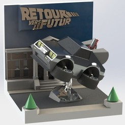 vvolante.JPG Download STL file Delorean diorama • 3D print object, AGCreation3D