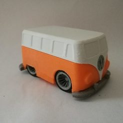 STL file VW bus art toy car hippy peace and love, agonzocrea