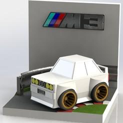 dioe30.JPG Download STL file Diorama M3 E30 • 3D printer model, AGCreation3D