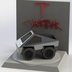 diocybertruck.JPG Download STL file Diorama Cybertruck • 3D printing design, AGCreation3D