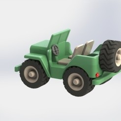 Descargar archivos STL Jeep Willys, AGCreation3D