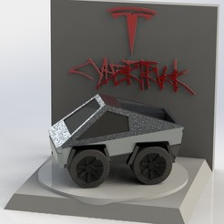 Download STL file Cybertruck • Template to 3D print, AGCreation3D