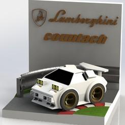 diocount.JPG Télécharger fichier STL Diorama Lambo countach • Objet pour imprimante 3D, AGCreation3D