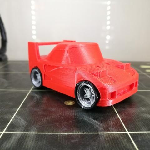 Modelos 3D para imprimir Juguete ferrari F40, agonzocrea
